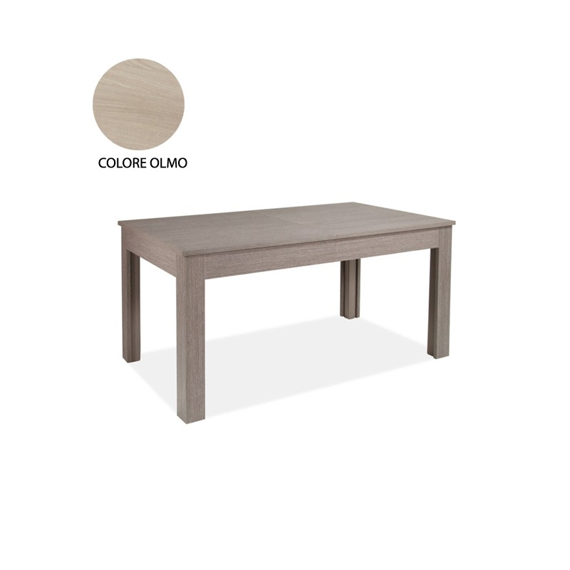 Tavolo allungabile in legno nobilitato colore olmo 160/320x90 cm