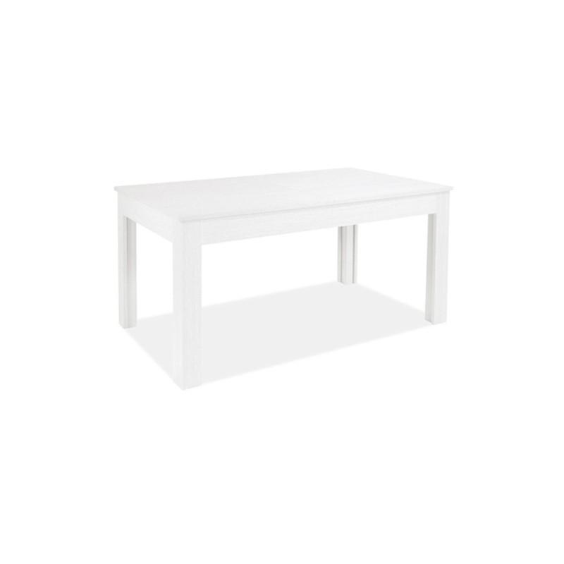 Tavolo allungabile in legno nobilitato bianco frassinato 160/320x90 cm