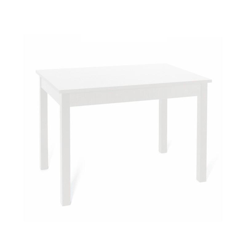 Tavolo pranzo allungabile Bianco Frassinato in legno nobilitato cm 80x120/160