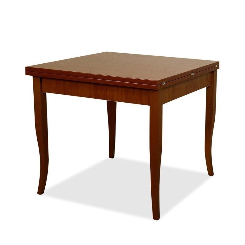 Tavolo da pranzo allungabile noce antico in legno nobilitato 90x90/180