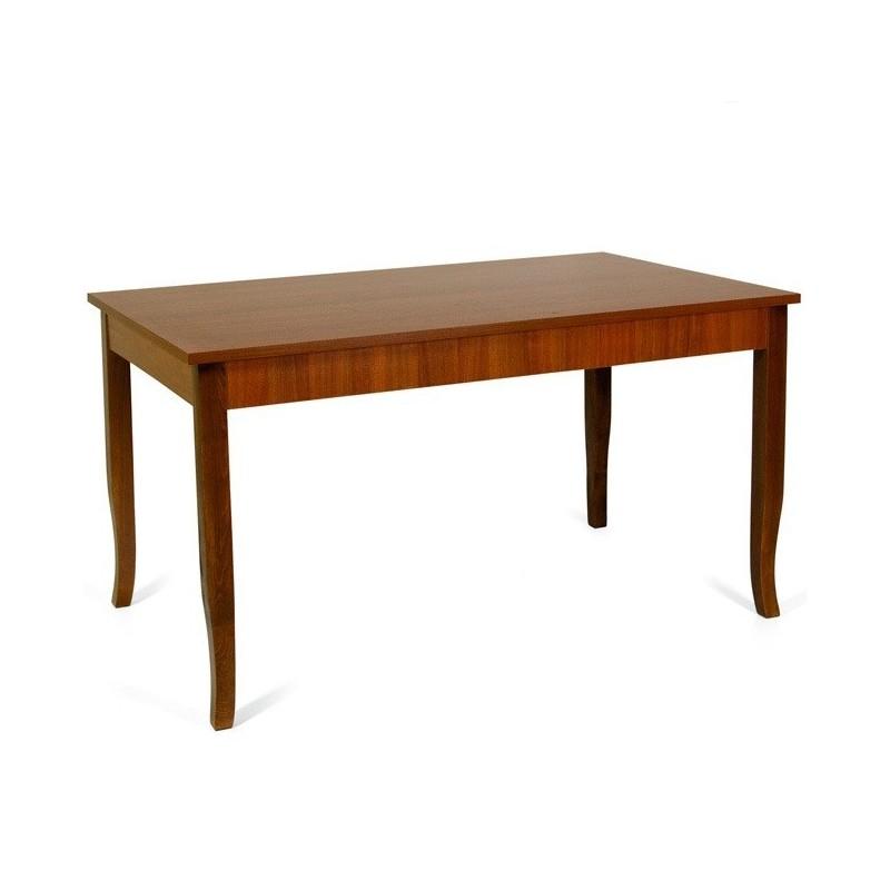 Tavolo pranzo allungabile interamente legno nobilitato 90x160/200 noce antico