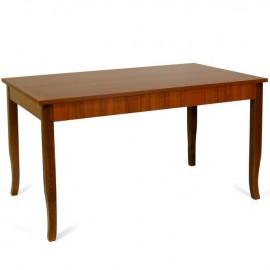 Tavolo pranzo allungabile interamente legno nobilitato 80x120/160 noce antico