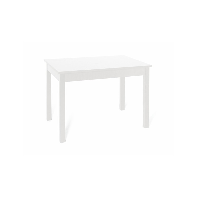 Tavolo da pranzo Bianco Frassinato  in legno nobilitato cm 70x110