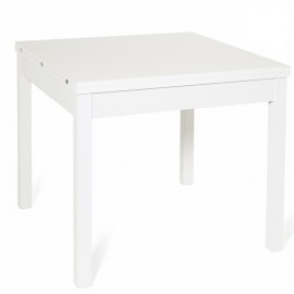 Tavolo pranzo Bianco Frassinato apribile libro in legno nobilitato cm 90x90/180
