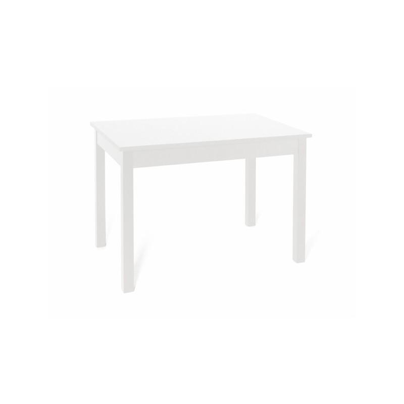 Tavolo allungabile Bianco Frassinato in legno nobilitato cm 70x110/150