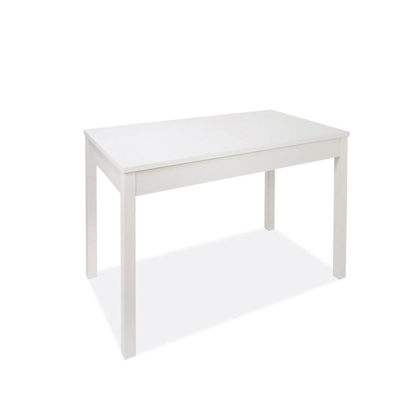 Tavolo pranzo allungabile bianco interamente legno nobilitato cm 90x160/240