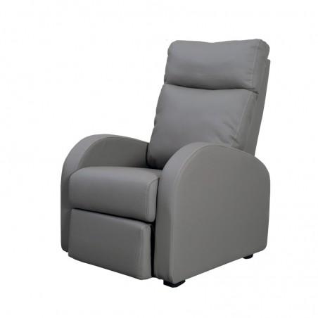 Poltrona relax reclinabile 2 posizioni in ecopelle tortora 73x97xh.108 cm