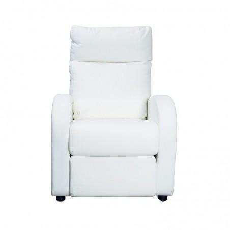 Poltrona relax reclinabile 2 posizioni  in ecopelle bianca  73x97xh.108 cm