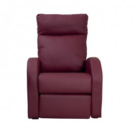 Poltrona relax reclinabile 2 posizioni  in ecopelle bordeaux  73x97xh.108 cm