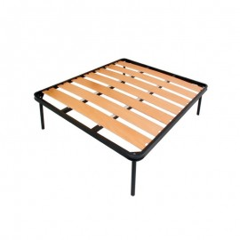 Rete matrimoniale ortopedica con 7 doghe in legno di faggio 160x190 cm