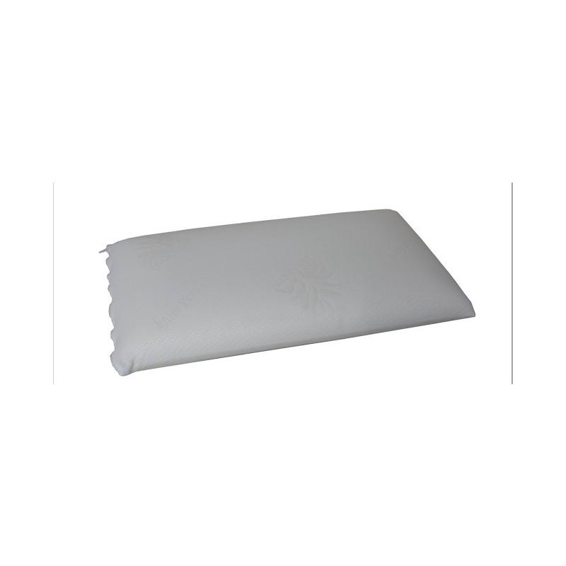 Guanciale trapuntato imbottito con vero fiocco di memory 75x45 cm