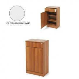 Mobiletto scarpiera Bianco legno nobilitato c/cassetto H.80xL.46xP.33 cm