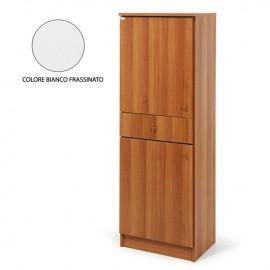 Armadio scarpiera 2 ante c/cassetto Bianco legno nobilitato H.133x46x33 cm