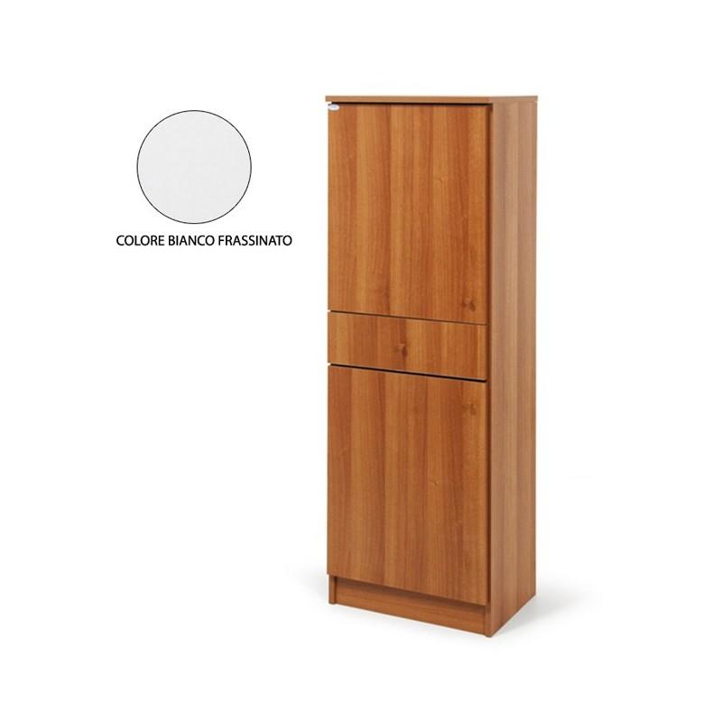 Armadio scarpiera 2 ante c/cassetto Bianco legno nobilitato H.133x4...