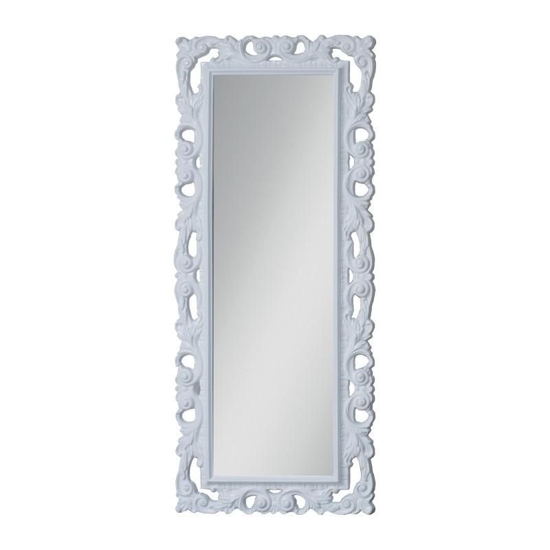 Specchiera con cornice colore bianca a foglia in espanso 75x180 cm