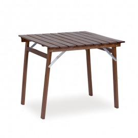 Tavolo in legno massiccio richiudibile colore noce 80x80xh.75 cm
