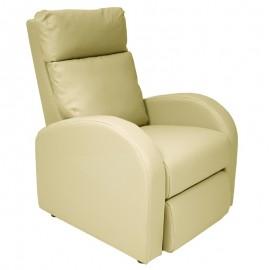 Poltrona relax reclinabile 2 posizioni  in ecopelle avorio  73x97xh.108 cm