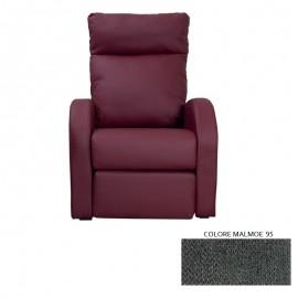 Poltrona relax reclinabile 2 posizioni in tessuto malmoe 95  73x97xh.108 cm