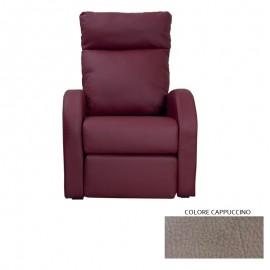 Poltrona relax reclinabile 2 posizioni in ecopelle mozart  73x97xh.108 cm