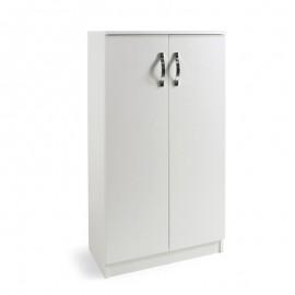 Armadio scarpiera multiuso Bianco in legno nobilitato 2 ante h130x71x38