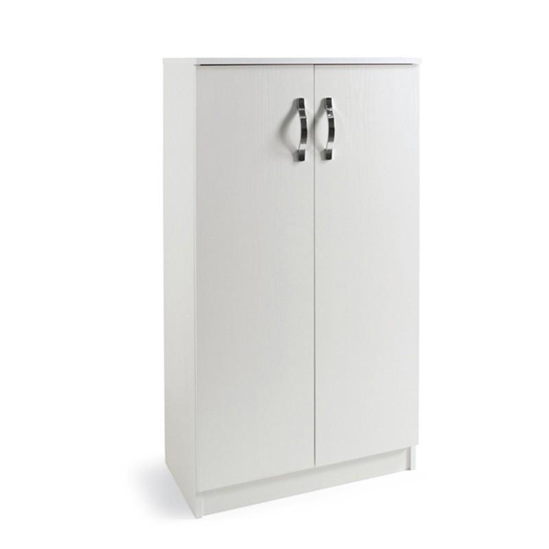 Armadio scarpiera multiuso Bianco in legno nobilitato 2 ante h130x7...