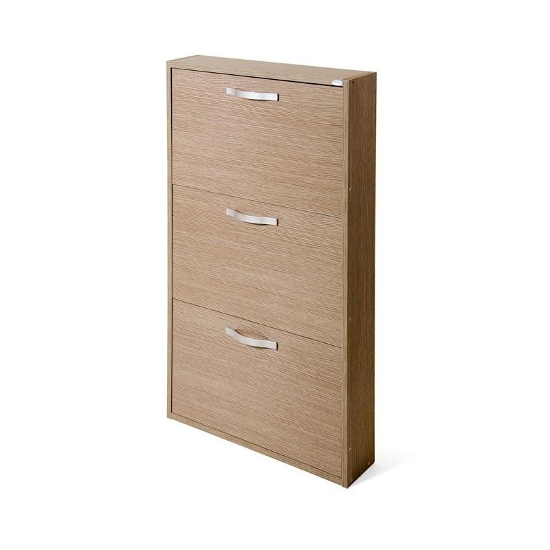 Scarpiera Larice Grigio in legno nobilitato 3 ribalte cm 108x65x15 ...