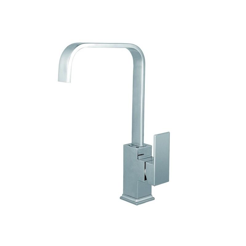 rubinetto miscelatore da cucina finitura cromo h 28x24 cm