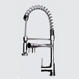 Miscelatore da cucina con doccetta finitura cromo h.32,5x19 cm