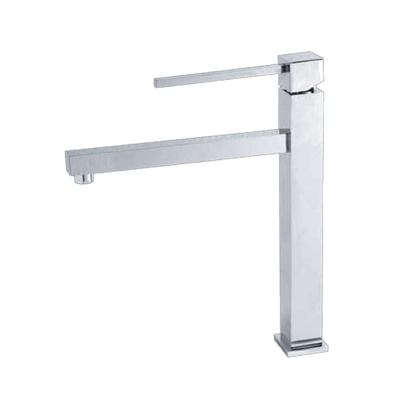 lavabo per bagno finitura cromo h.30x22 cm