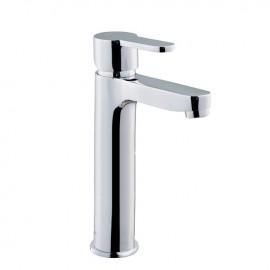 Rubinetto miscelatore per lavabo bagno finitura cromo h.24x12 cm