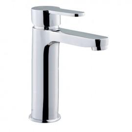 Rubinetto miscelatore per lavabo bagno finitura cromo h.16x12 cm