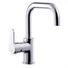 Rubinetto miscelatore per lavabo bagno finitura cromo h.15,5x13 cm