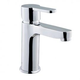 Rubinetto miscelatore per lavabo bagno finitura cromo h.9,5x12 cm