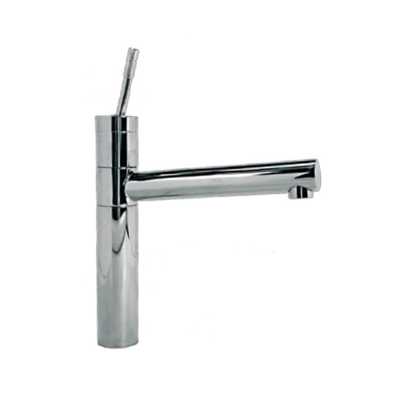 Rubinetto miscelatore per lavabo cucina finitura cromo h.30,5x20 cm