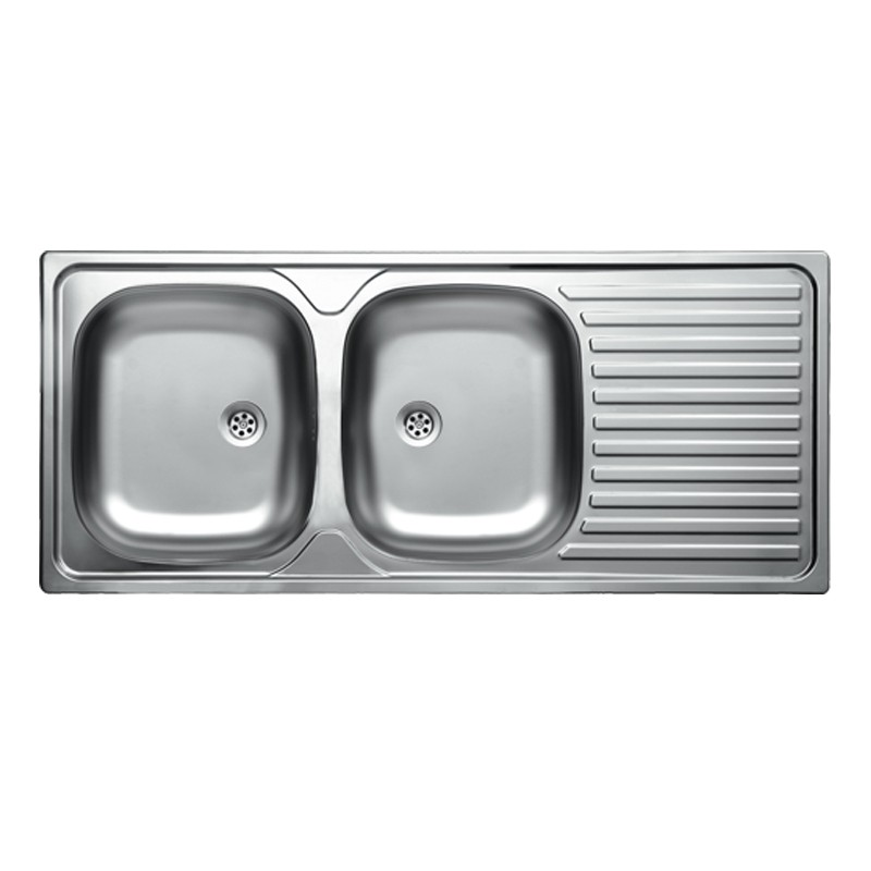 Lavello Cucina 2 Vasche Senza Gocciolatoio.Lavello Cucina Con 2 Vasche Linea Triton