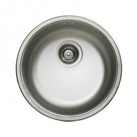 Lavello cucina a pozzetto in acciaio inox da incasso diam. 43.5 cm