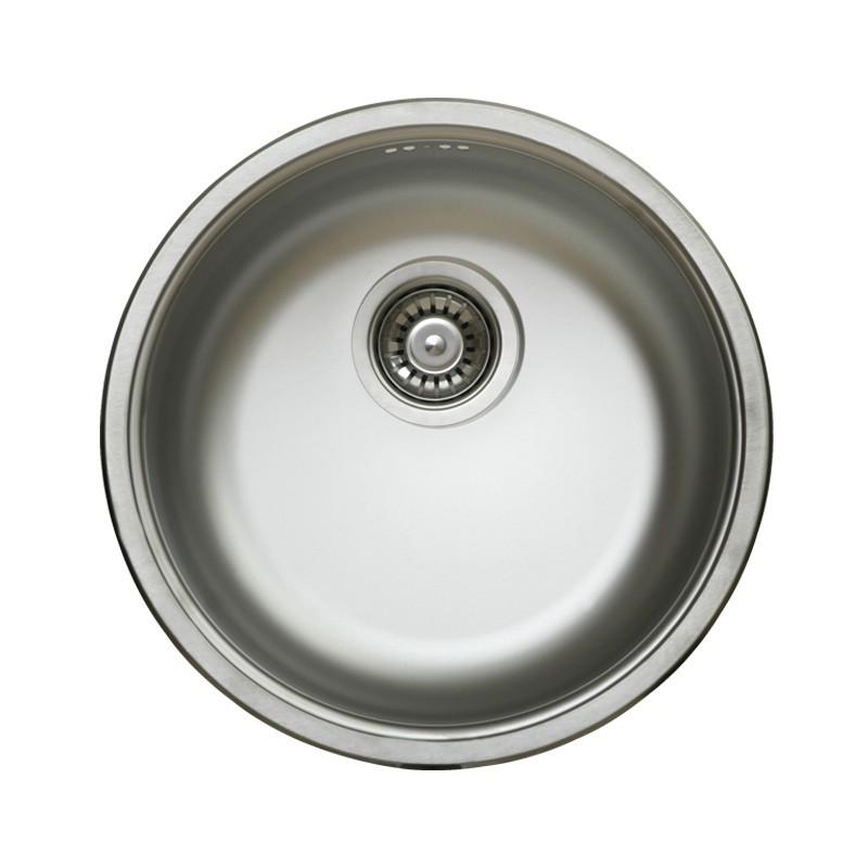 Lavello Cucina A Incasso.Lavello Cucina A Pozzetto In Acciaio Inox Da Incasso Diam 43 5 Cm