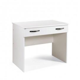 Scrivania per camera Bianco in legno nobilitato 1 cassetto  cm 90x56xH.75