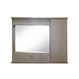 Mobile specchiera da bagnolarice grigio 1 anta con ribalta h.61x73x14 cm