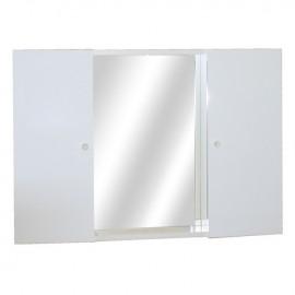 Mobile specchiera da bagno bianco lucido 2 ante h.58x83x15 cm