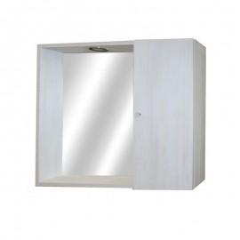 Mobile specchiera da bagno bianco larice 1 anta h.58x67x15 cm