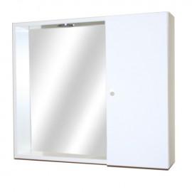 Mobile specchiera da bagno bianco lucido 1 anta h.58x67x15 cm