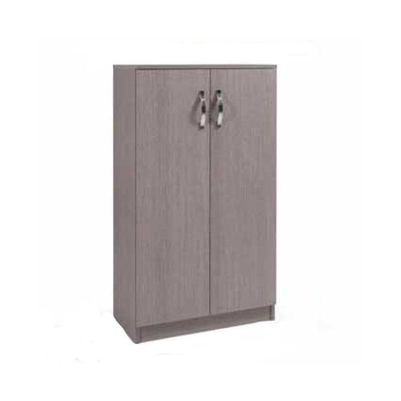 Armadio scarpiera multiuso Larice Grigio legno nobilitato 2 ante h130x71x38