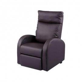 Poltrona relax reclinabile 2 posizioni  ecopelle testa di moro 73x97xh.108 cm