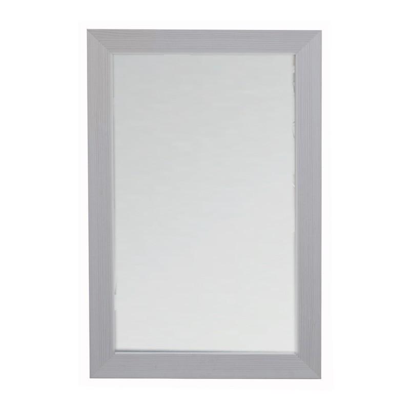 Specchio con cornice larice bianco 45x75cm