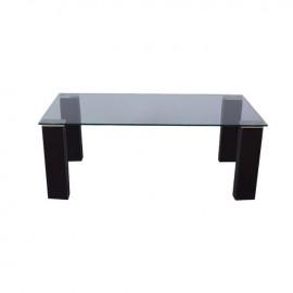 Tavolino da salotto in vetro semi trasparente 120x60xh.43 cm
