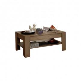 Tavolino da salotto con ripiano colore rovere classico 110x40xh.65 cm