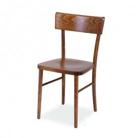 Sedia in legno di faggio crudo curvato colore noce anticato 51x51xh.89 cm