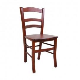 Sedia classica in legno massello di faggio color noce  42x41xh.88 cm