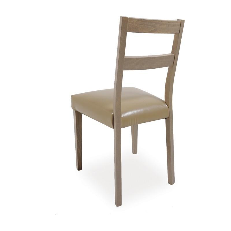 Sedute Per Sedie Di Legno.Sedia In Legno Di Faggio Larice Con Seduta In Ecopelle Tortora 45x4